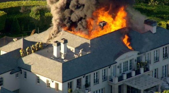 Burning mansion