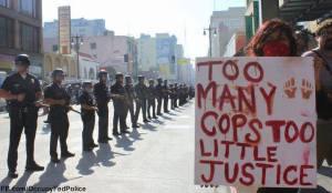 Police brutality banner